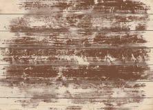 Bruine grunge houten muur, lijst, vloeroppervlakte Donkere vector houten textuur stock illustratie