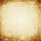 Bruine grungeachtergrond, oude document textuur, spatie, beige vlekken, vector illustratie