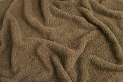 Bruine handdoekbadstof Stock Fotografie