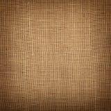 Bruine het canvasachtergrond van de jutejute met schaduw Stock Afbeelding