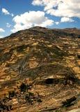 Bruine heuvel stock afbeelding