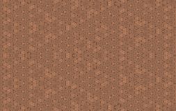 Bruine hexagon whithlijn als Thaise moderne naadloze achtergrond Royalty-vrije Stock Foto's