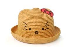 Bruine hoed Met het knippen van weg stock afbeeldingen