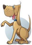 Bruine hond royalty-vrije illustratie