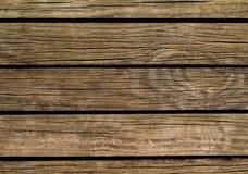 Bruine houten achtergrond Natuurlijke houten textuur met horizontale lijnen Stock Fotografie