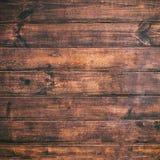 Bruine houten achtergrond Oude uitstekende textuur van schorshout, tabl Royalty-vrije Stock Foto