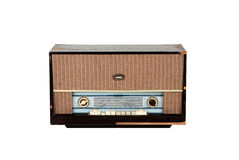 Bruine houten analoge radio Royalty-vrije Stock Foto