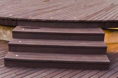 Bruine houten de textuurachtergrond van de plankmuur Royalty-vrije Stock Foto's