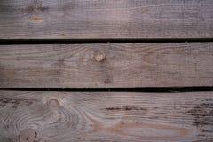 Bruine houten de textuurachtergrond van de plankmuur Stock Afbeeldingen