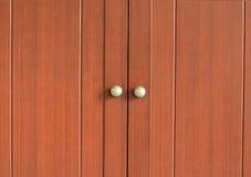 Bruine houten deur Royalty-vrije Stock Afbeeldingen