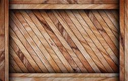 Bruine houten doos stock afbeelding