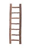 Bruine houten geïsoleerdej ladder royalty-vrije stock afbeeldingen