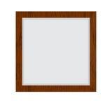 Bruine houten grens stock illustratie