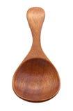 Bruine Houten Lepel met het knippen van weg Stock Afbeelding