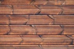 Bruine houten muur, achtergrondfototextuur Royalty-vrije Stock Foto