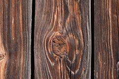 bruine houten raad met holten royalty-vrije stock fotografie