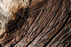 bruine houten raad met krassen en diepe barsten stock fotografie