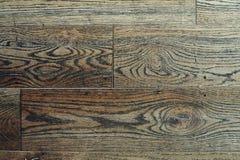 Bruine houten textuur oude panelen als achtergrond Stock Foto's