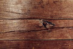 Bruine houten textuur oude panelen als achtergrond Stock Foto