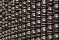 Bruine houten Thaise stijlpijler Stock Afbeeldingen
