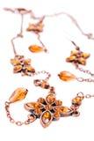 Bruine jewelery royalty-vrije stock afbeeldingen