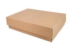 Bruine kartondoos stock foto