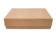 Bruine kartondoos stock afbeeldingen