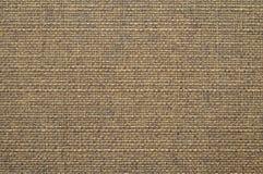 Bruine katoenen stoffentextuur Stock Fotografie