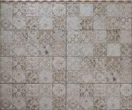 Bruine keramische tegels Stock Afbeelding