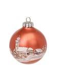 Bruine Kerstmisbal royalty-vrije stock afbeeldingen