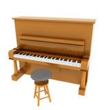 Bruine klassieke piano royalty-vrije illustratie