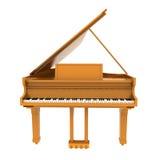 Bruine klassieke piano vector illustratie