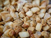 Bruine knapperige gefrituurde Moo van de het geknetterprop van de varkensvleesreuzel/khaep mu royalty-vrije stock afbeeldingen