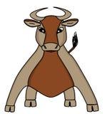 Bruine koe stock illustratie