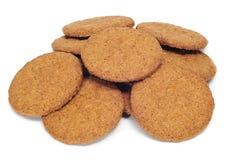 Bruine koekjes Royalty-vrije Stock Foto's