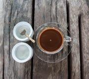 Bruine koffie Stock Afbeeldingen