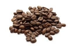 Bruine koffiebonen royalty-vrije stock afbeeldingen