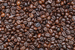 Bruine koffiebonen Stock Foto's