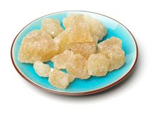 Bruine kristalsuiker royalty-vrije stock foto's