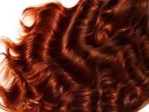 Bruine Krullende Haartextuur. Hoog - kwaliteitsbeeld. Stock Afbeelding
