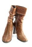 Bruine laarzen Stock Afbeelding