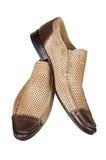 Bruine lage schoenen Royalty-vrije Stock Afbeeldingen