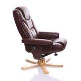 Bruine leer recliner stoel Royalty-vrije Stock Afbeelding