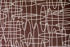 Bruine lijn abstracte achtergrond Stock Fotografie