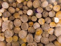 Bruine logboekachtergrond Stock Afbeelding