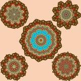 Bruine mandalas Royalty-vrije Stock Afbeelding