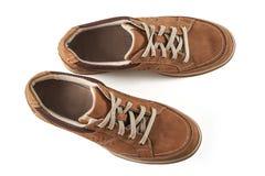 Bruine mensen` s schoenen Royalty-vrije Stock Foto
