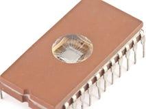 bruine microchip Royalty-vrije Stock Afbeeldingen