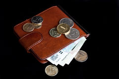 Bruine Moneyclip Stock Afbeelding