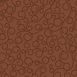 Bruine monogrammen op de ge?soleerde achtergrond Naadloos patroon stock fotografie
